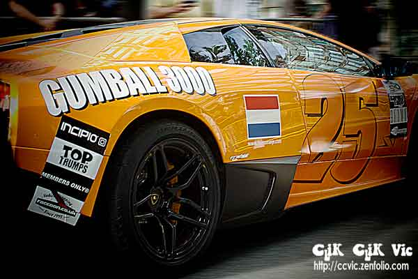 Photo of Gumball 3000 Lamborghini Murcielago LP670-4 Superveloce. Photo credit Vincent Banial