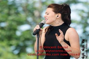 Photo of Vanessa Marie Carter performing at Woodbine Park in Toronto by Vincent Banial