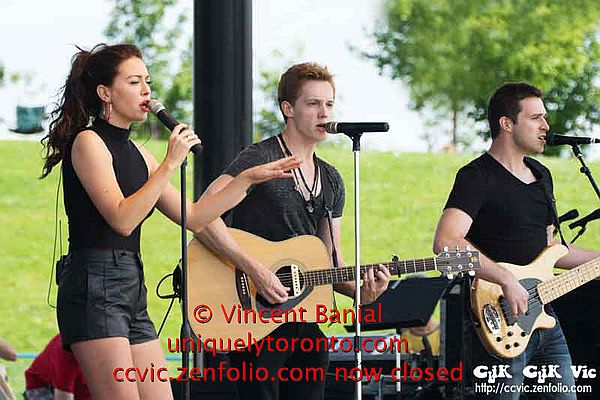 "Photo of ""Vanessa Marie Carter"", ""Al Rowe"" and ""Josh Patrick"" performing at Woodbine Park by Vincent Banial"