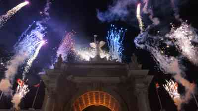 Photo of  the CNE Princess Gates with Fireworks