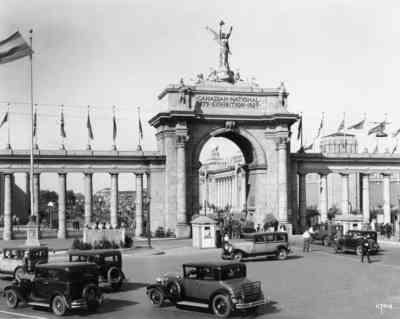 Photo of the CNE Princess Gates in Toronto  circa 1927 in Toronto