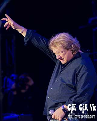 Photo of Lou Gramm in concert at the CNE Bandshell. photo credit ccvic.zenfolio.com