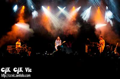 Photo of Dragonette in concert at the CNE Bandshell. Photo credit Vincent Banial