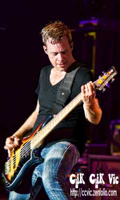 Photo of Dave McMillan on Bass with Big Wreck performing at the CNE Bandshell. Photo credit ccvic.zenfolio.com