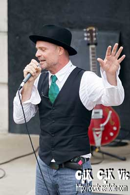 Photo of Gord Downie performing at the Rock the Line concert. Photo credit Vincent Banial