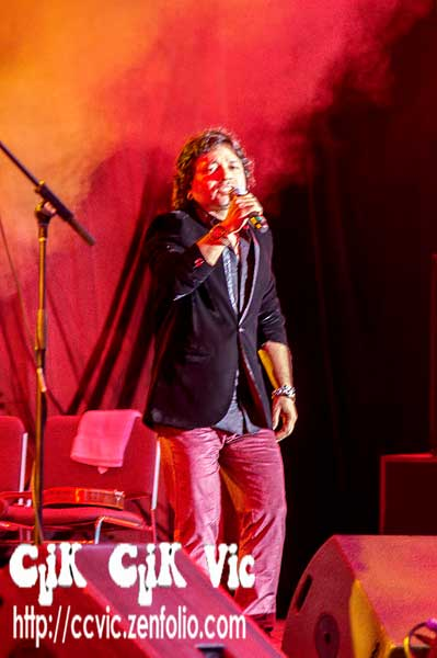 "Photo of the Kailash Kher and his band ""Kailasa"" performing at the CNE Bandsell on Aug 17 2014. Photo Credits CLiK CLiK Vic"