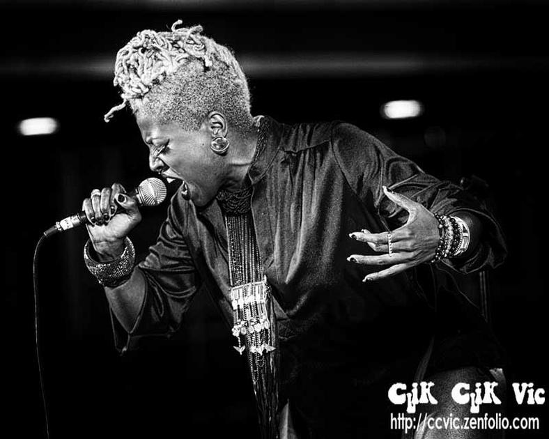 Saidah Baba Talibah performing at Yonge Dundas Sq, in Toronto 2013. Photo Credit Vincent Banial