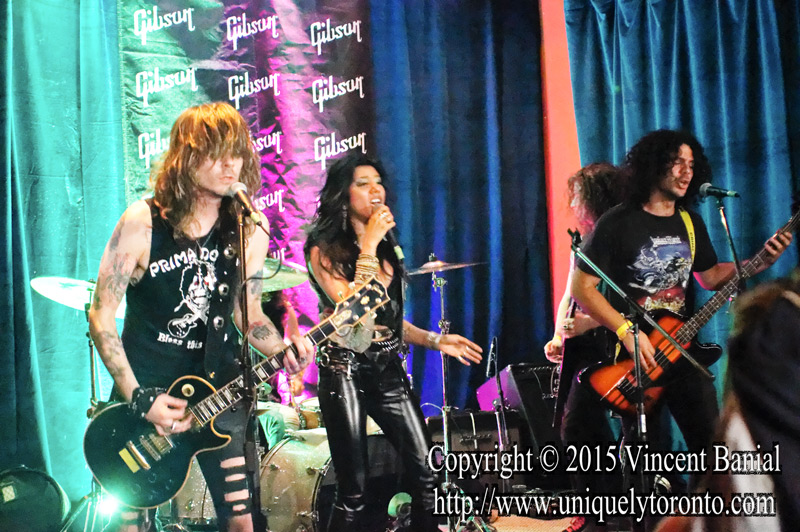 Photo of Diemonds performing at the eOne Music Canada & Gibson party on May 09 2015. Photo credit Vincent Bania