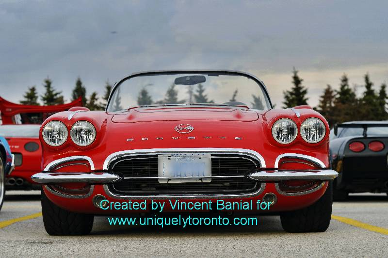 Photo of red Corvette at Woodbridge Cruise Night May 18 2015. Photo credit Vincent Banial