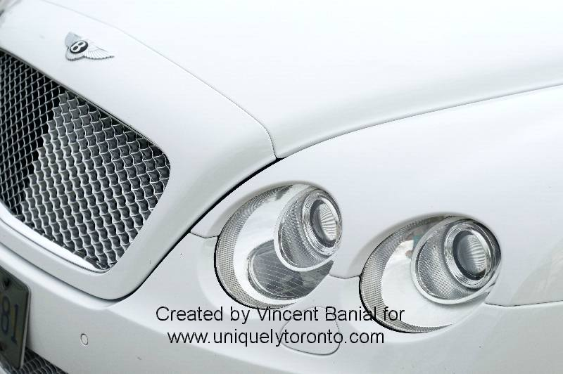 Photo of a white Bentley at Woodbridge Cruise Night May 18 2015. Photo credit Vincent Banial