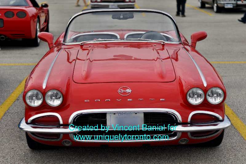 Photo of a red Corvette at Woodbridge Cruise Night May 18 2015. Photo credit Vincent Banial