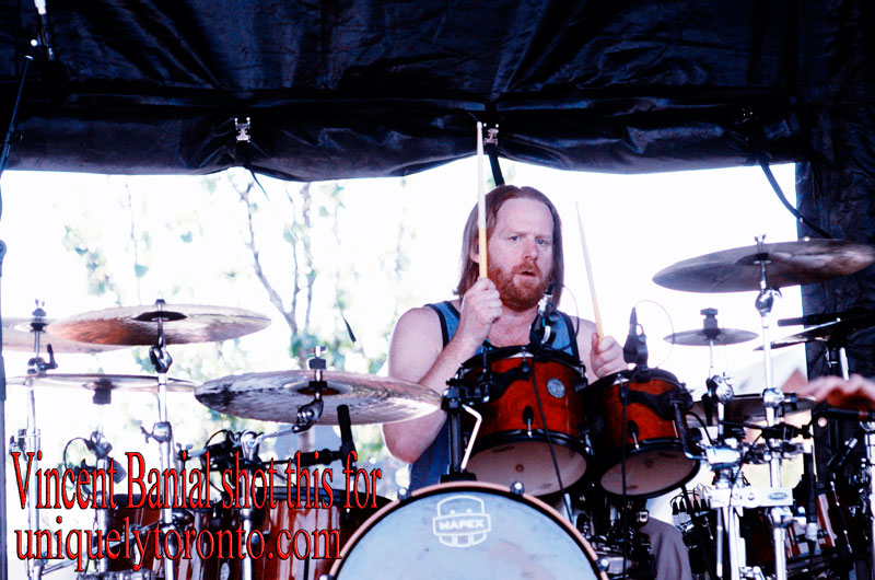 "Photo of ""I Mother Earth"" Drummer performing at Cosmo MusicFest. Photo credit Vincent Banial"