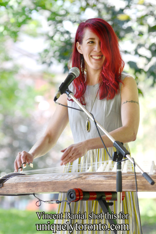 """Photo of """"The Jessica Stuart Few"""" performing on Monday, June 29th at St. James Park in Toronto. Photo credit Vincent Banial"""