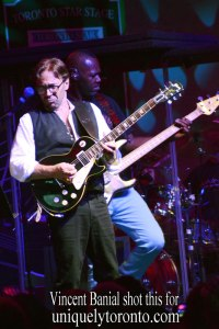 Al Di Meola performing on June 25 at Nathan Philips Square as part of the Toronto Jazz Festival. Photo credit Vincent Banial
