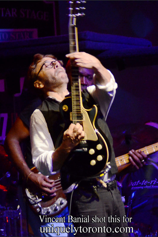 Al Di Meola performing on June 25 at Nathan Philips Square as part of the Toronto Jazz Festival. Phot credit Vincent Banial