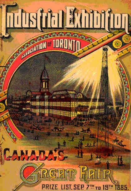 Photo of poster from the 1885 Toronto Industrial Exhibition