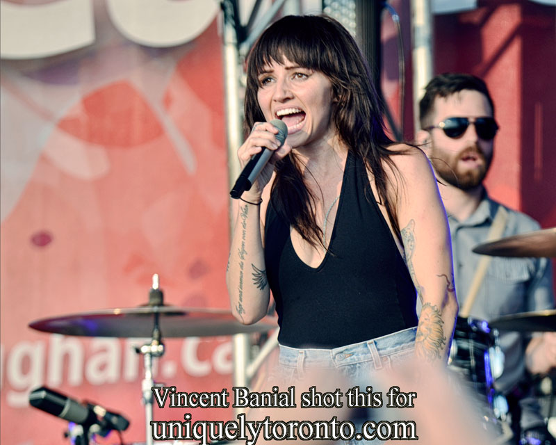 Photo of LIGHTS performing in Vaughan on Canada Day. Photo credit Vincent Banial