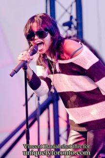 Photo of the Fefe Dobson concert at the Ontario Celebration Zone at Harbourfront Centre on July 15 2015. Photo credit Vincent Banial