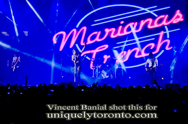 "Photo of the ""Marianas Trench"" concert on July 15 2015 at Nathan Philips Square, as part of Toronto 2015 Panamania. Photo credit Vincent Banial"