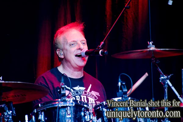 Sean Ftzsimons on Drums with The FlairZ, performing at the North American International Motorcycle Supershow 2016