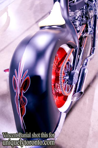 Photo of the Custom Chopper built by Paul Jr. Designs for the 2012 Chopper Live Build Off. Photo credit Vincent Banial