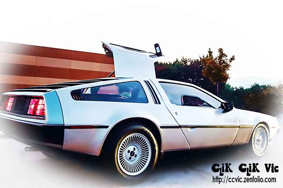 Photo of an original DeLorean DMC 12. Photo credit Vincent Banial