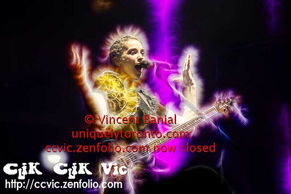 "photo of ""Annie Clark"" the singer with ""St Vincent"" by Vincent Banial"