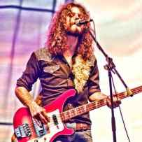 """Photo of """"The Sheepdogs"""" in concert at the Festival of Friends 2011. Photo credit Vincent Banial"""