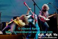 "Photo of ""The Sheepdogs"" in concert at the Festival of Friends 2011. Photo credit Vincent Banial"
