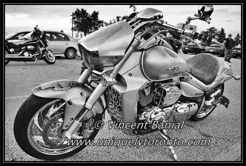 "Photo of a Motorcycle on display at the ""Back Alley Cruisers Woodbridge"" Car Meet on July 11 2016. Photo Credit Vincent Banial"
