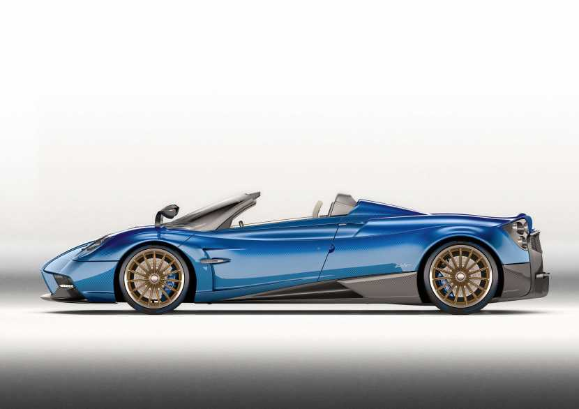 Photo of Pagani Huayra Roadster side view