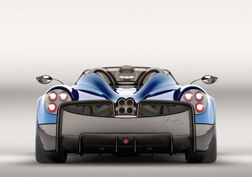 Photo of Pagani Huayra Roadster rear view