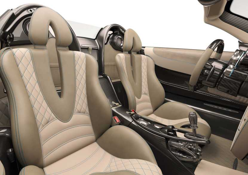 Photo of Pagani Huayra Roadster interior view of seats
