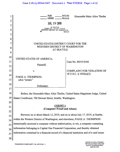 Paige Thompson Indictment - pg1